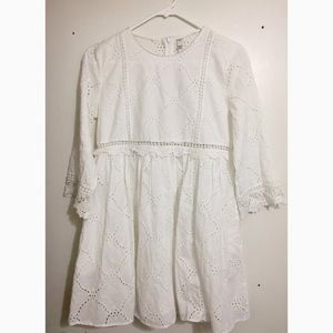 Zara NWT White Eyelet Dress